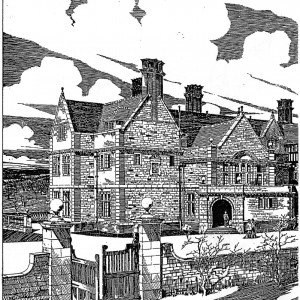 Part of  Blomfield's drawing illustrated in the article