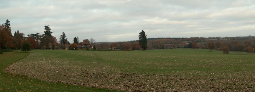 Panorama of the Parkland looking north towards the house                   Photo EmC  Nov 2008